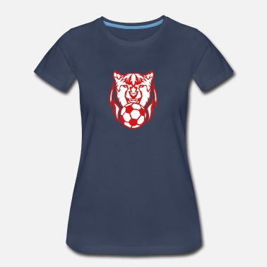 Cheetah Logo soccer cartoon face logo cheetah 1 - Women's Premium T-Shirt