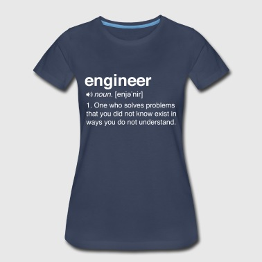 Funny Engineer Definition - Women's Premium T-Shirt