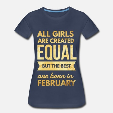 Queens Are Born In February Birthday Ladies Womens T-Shirt Funny Joke Gift