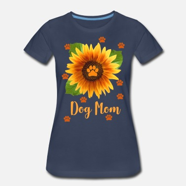 Sunflowers Sunflower Dog Mom design - Women's Premium T-Shirt