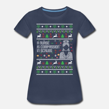 Jumper Nurse Christmas Jumper - Women's Premium T-Shirt