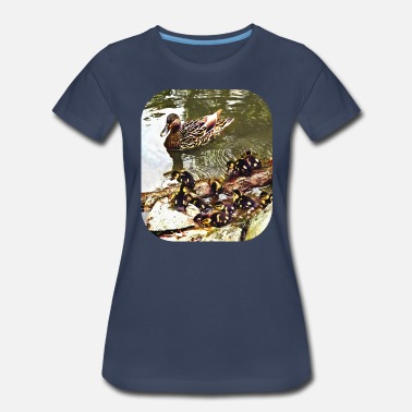 Ducks Pond Duck Family - Women's Premium T-Shirt