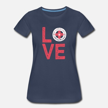 Vet Love - Veterinarian - Tech - Animal Lover - Women's Premium T-Shirt