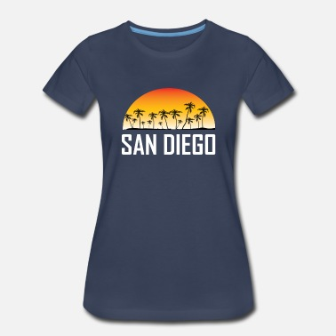 San Diego San Diego California Sunset Palm Trees Beach - Women's Premium T-Shirt