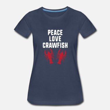 Maine Lobster Peace Love Crawfish Gift - Women's Premium T-Shirt