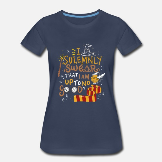 I Solemnly Swear That I Am Up To No Good Ladies Fitted T-Shirt Harry Wizard Gift