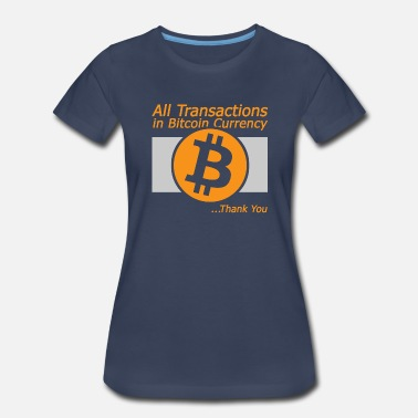 Crypto All Transaction in Bitcoin Currency - Women's Premium T-Shirt
