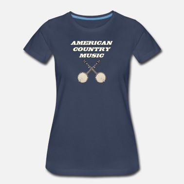 Americana Music American country music - Women's Premium T-Shirt