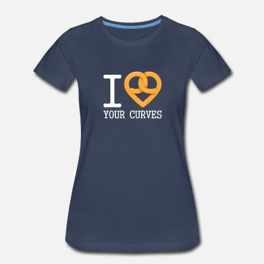 Pretzel I Love Your Curves Gift - Women's Premium T-Shirt