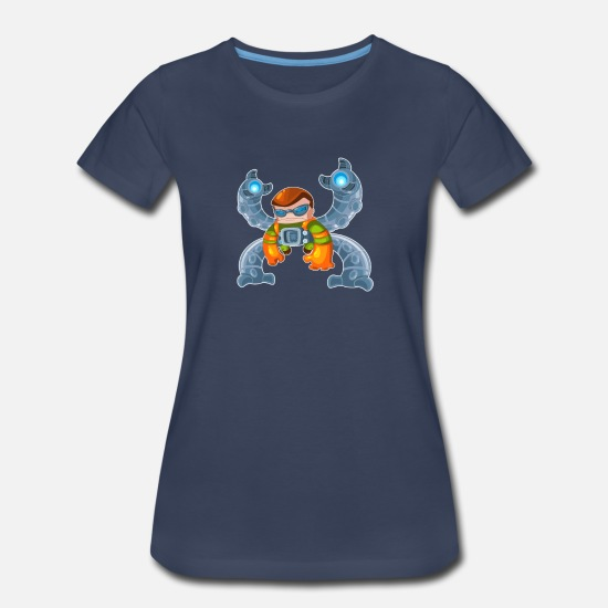 Seuss T-Shirts - DR OCTOPUS - Women's Premium T-Shirt navy