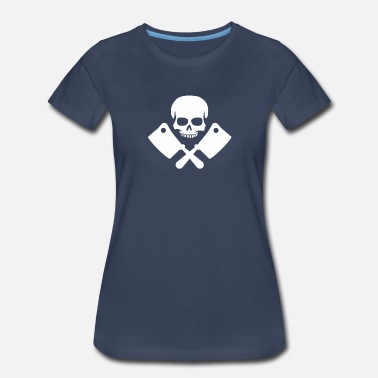 Retro Skull And Knifes - Women's Premium T-Shirt