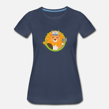 Lion Monkey Viking lion with circle Sdm2q - Women's Premium T-Shirt