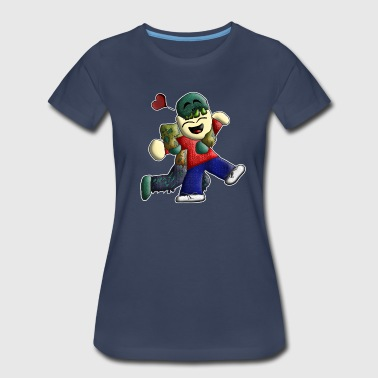 Nombie the Zombie - Women's Premium T-Shirt