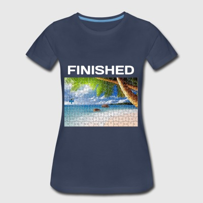 Beach Puzzle Finished - Women's Premium T-Shirt