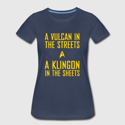 A vulcan in the streets a klingon in the sheets - Women's Premium T-Shirt