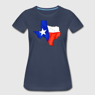 Texas Shaped Flag - Women's Premium T-Shirt