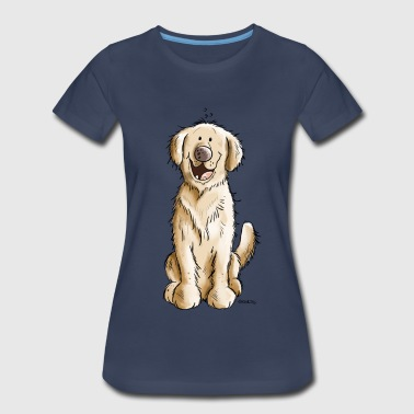 Smiling Golden Retiever - Dog - Dogs - Gift - Women's Premium T-Shirt