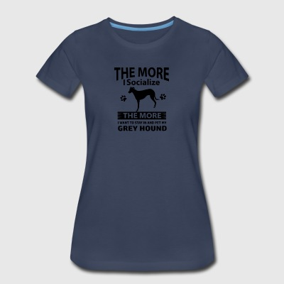 Funny Greyhound designs - Women's Premium T-Shirt