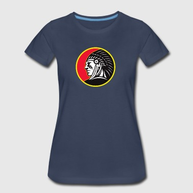 red_yellow_sun_indian - Women's Premium T-Shirt
