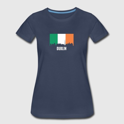 Irish Flag Dublin Skyline - Women's Premium T-Shirt