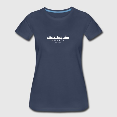 Munich Germany Skyline - Women's Premium T-Shirt