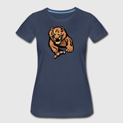 sharp_claw_big_lion_attacking - Women's Premium T-Shirt