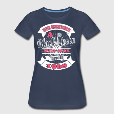 Black Queens Born in 1968 - Women's Premium T-Shirt