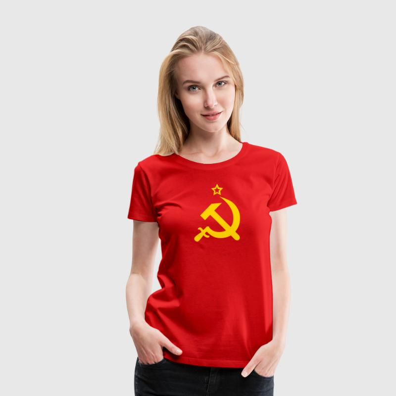Hammer and Sickle CCCP USSR Coat of Arms Russia - Women's Premium T-Shirt