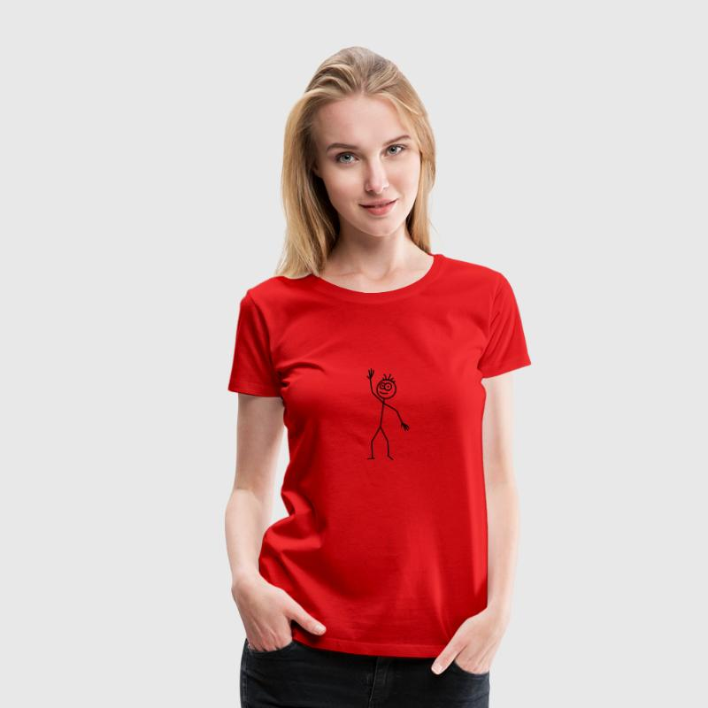 Happy Stick Figure - Women's Premium T-Shirt