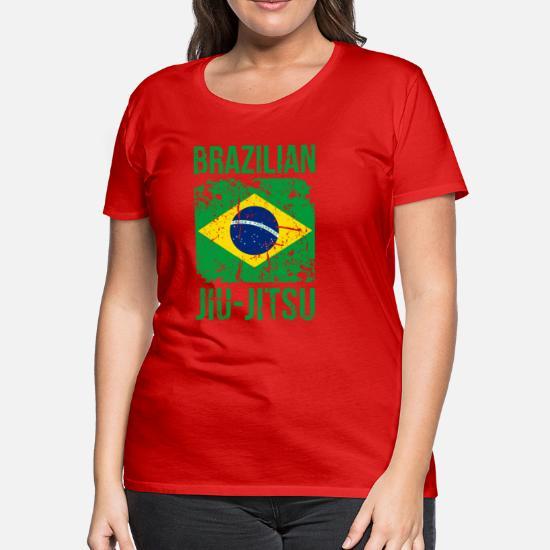 BJJ Brazilian Jiu Jitsu Flag Martial Arts T Shirt Women's Premium T