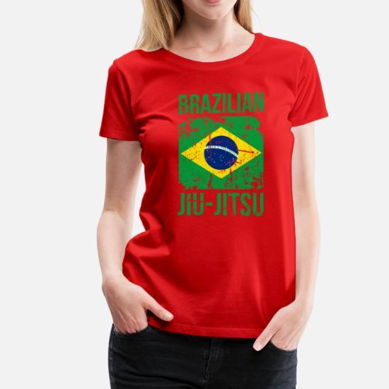 BJJ Brazilian Jiu Jitsu Flag Martial Arts T Shirt Women's