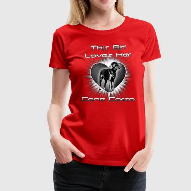 Girl Loves Her Cane Corso - Women's Premium T-Shirt