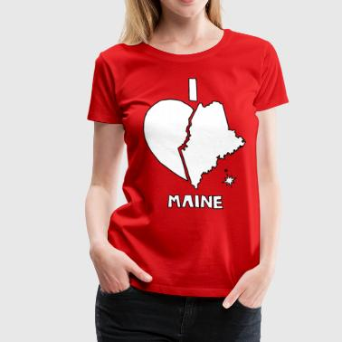 i heart Maine (white) - Women's Premium T-Shirt