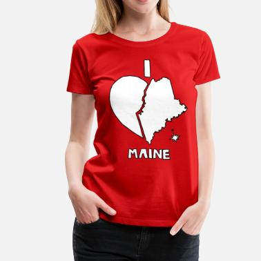 Maine  i heart Maine (white) - Women's Premium T-Shirt
