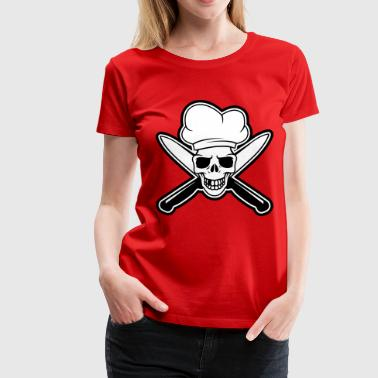 Chef skull - Women's Premium T-Shirt