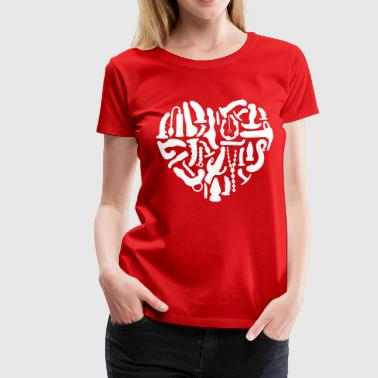 Swinger Kinky Sex Tools Heart - Women's Premium T-Shirt