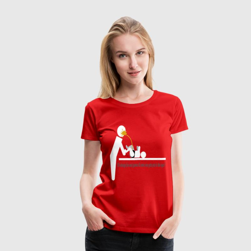 Its always fun and games til some one gets pee in  - Women's Premium T-Shirt