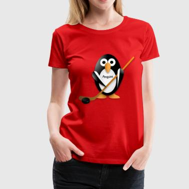 Penguin Hockey Stick Penguin with a hockey stick - Women's Premium T-Shirt