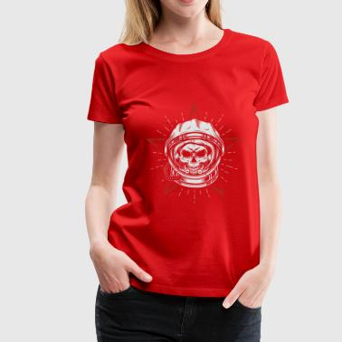 Dead Orbit Space Astronaut Skull Head - Women's Premium T-Shirt