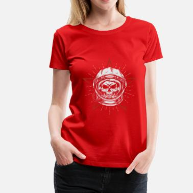 Head Space Space Astronaut Skull Head - Women's Premium T-Shirt