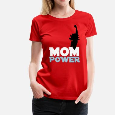 Feminist-plus-size Mom Power 2 - Women's Premium T-Shirt