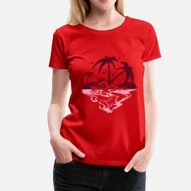 South Sea Islands An island in the sea - Women's Premium T-Shirt