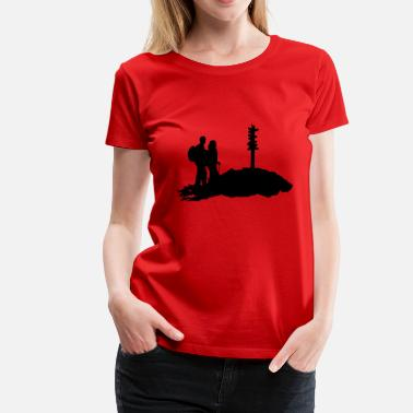 Hiking Hikers Hiking, Hiker - Women's Premium T-Shirt
