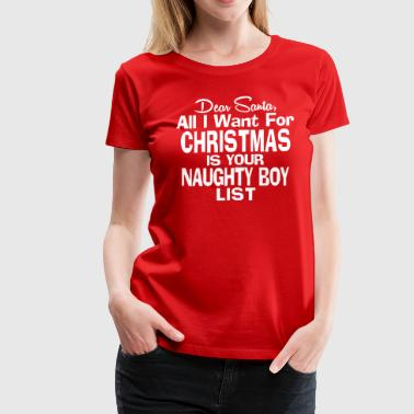Womens Christmas Funny Christmas Saying - Women's Premium T-Shirt