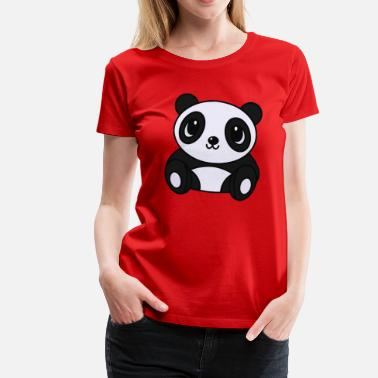 Panda Design Panda Cute - Women's Premium T-Shirt