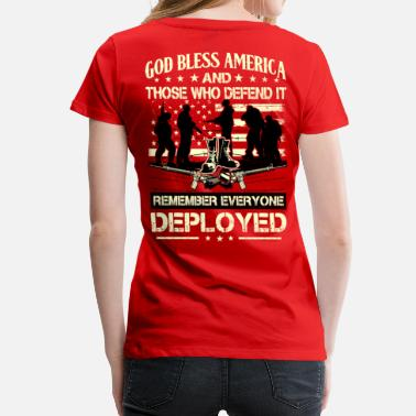 Red Remember Everyone Deployed Red Friday Shirt  -  Remember Everyone Deployed - Women's Premium T-Shirt