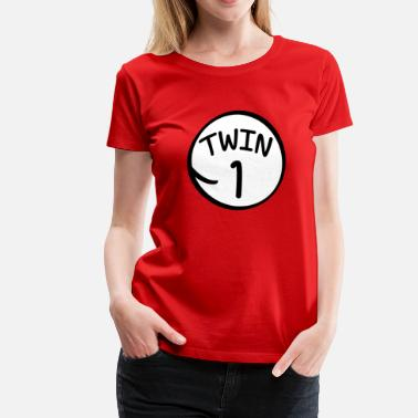 6fbe752dfba Twins Funny Twin 1 shirt - Women  39 s Premium ...