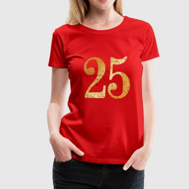 25th Anniversarys Number 25 - 25th Anniversary (Ancient Gold) - Women's Premium T-Shirt