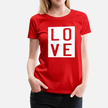 Love-square-design Love in a square - Women's Premium T-Shirt