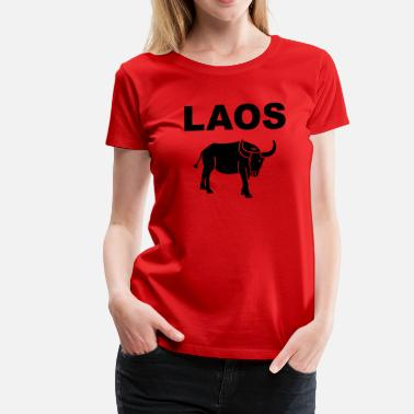 Water Buffaloes Laos - water buffalo - Women's Premium T-Shirt